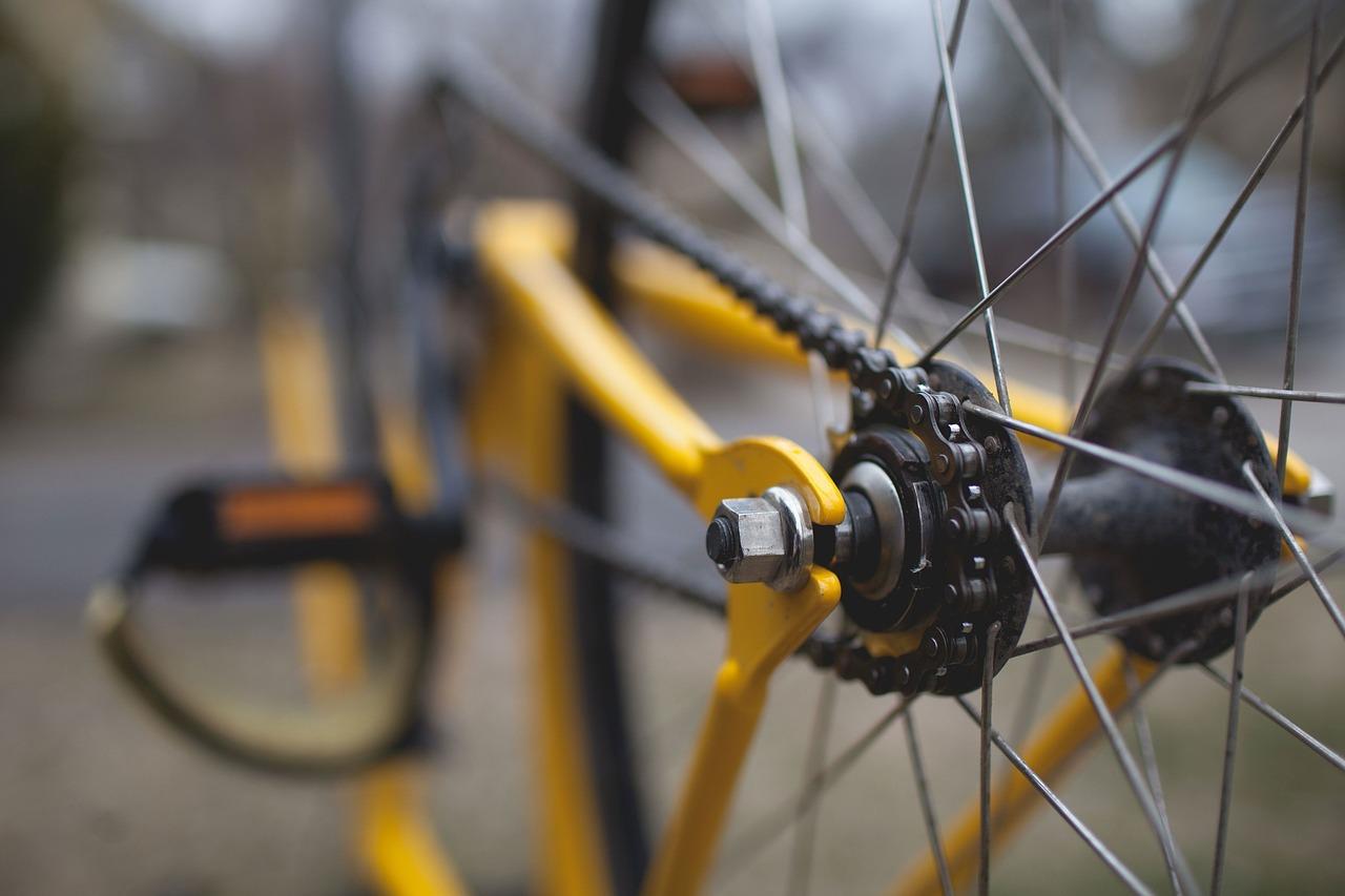 la roue d'un vélo pour faire du sport